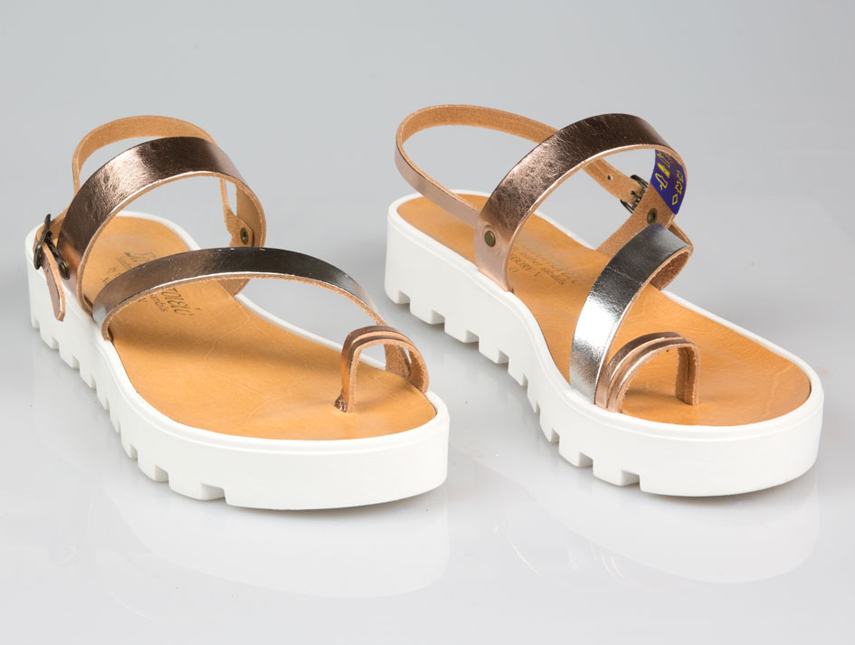 Mykonos Platform Leather Sandals