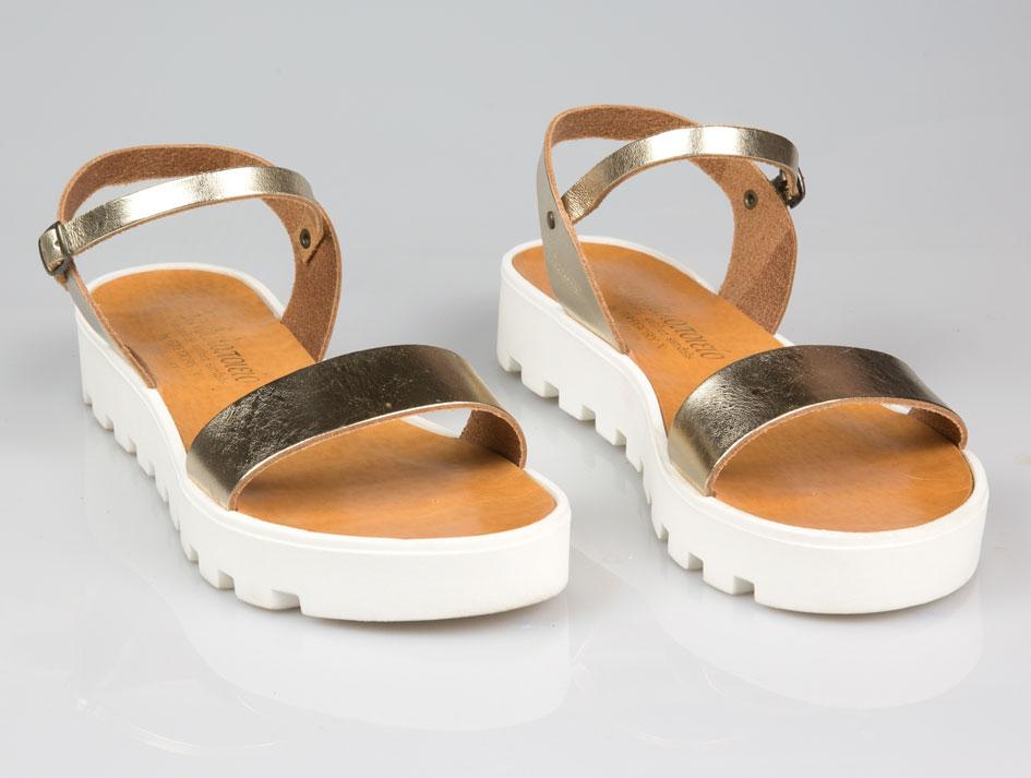 Sifnos Platform Leather Sandals